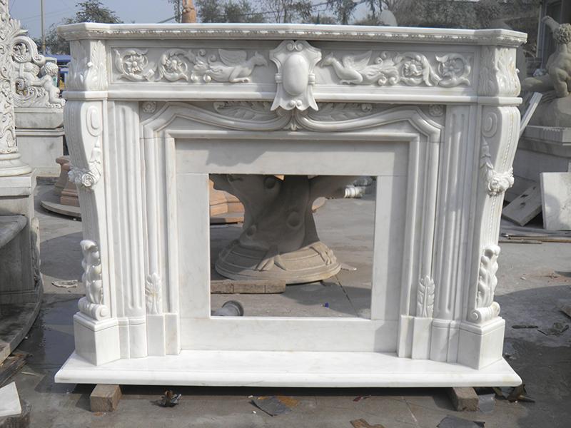 화이트 자연 돌 대리석 벽난로 벽난로-벽난로 -상품 ID:60671477256 ...