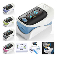 Family Care OLED Display Portable Fingertip Pulse Oximeter with Spo2 PR bar graph and pulse waveform