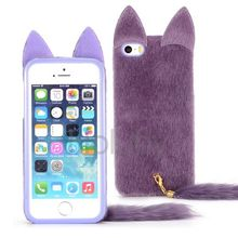 Phone accessories mobile furry cases for iphone 5s, Cat Design for furry iphone 5s, for iphone 5s furry case