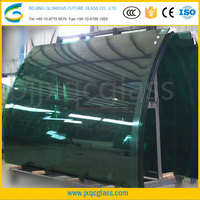 15mm colored building curved tempered glass panels with CCC certificate