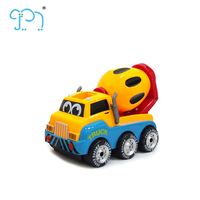 Hot Selling Cartoon Remote Control Friction Cement Mixer Truck Toy For Kids Radio Control Engineering Vehicle With Music Light
