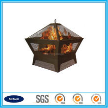 Square Table Home Garden Patio fire pit With Cover