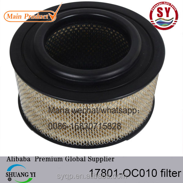High Quality Auto Spare Parts used for TOYOTA HILUX AUTO <strong>FILTER</strong> 17801-OC010 for Toyota <strong>Engine</strong>