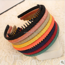 New Fashion Multicolor Headband With Teeth Practical Cloth Hair Band For Women & Girls