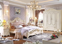 Classical Italian bedroom set / bedroom furniture sets luxury made in China