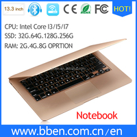 oem laptops i3 slim computer very cheap price with wifi 802.11A/C USB3.0