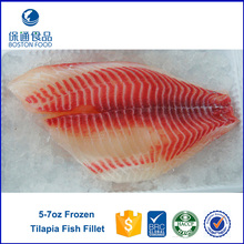 Frozen Seafood Skined Frozen Tilapia Fish Fillet