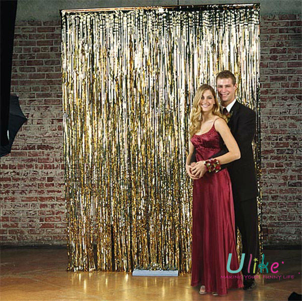 Wedding gold metallic foil curtain buy gold metallic for Where to buy photography