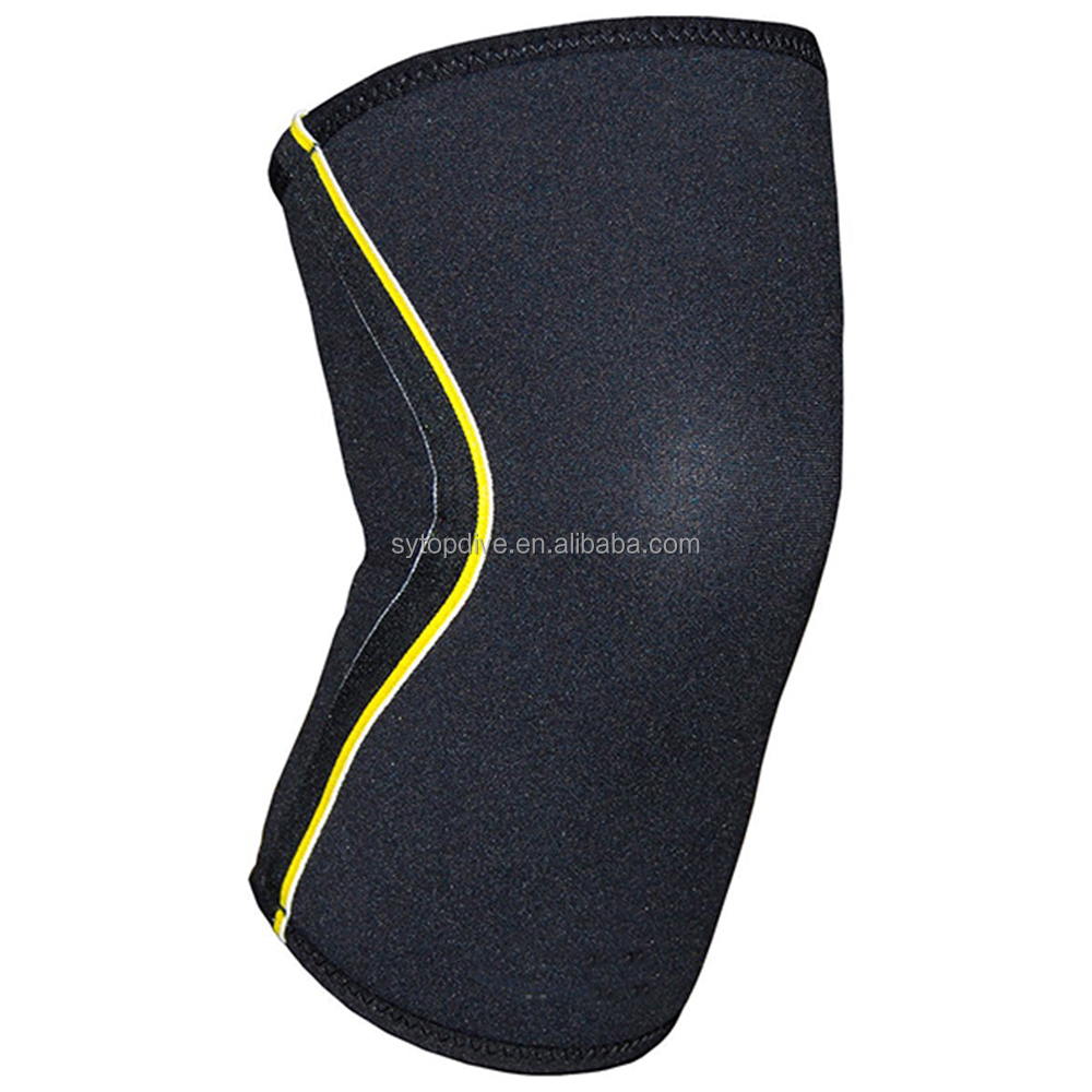 <strong>Protects</strong> against sprains reducing any pain two-strap knee support neoprene