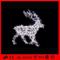 led reindeer and sleigh decoration led Christmas reindeer/3d sika deer sets Outdoor Christmas Inflatable Decoration