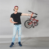 light weight aluminum mini portable folding bike 16""