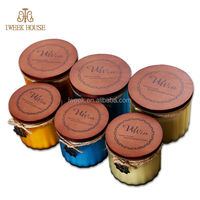 2014 new product 100% Soy Wax Scented Candle With Wood Lid