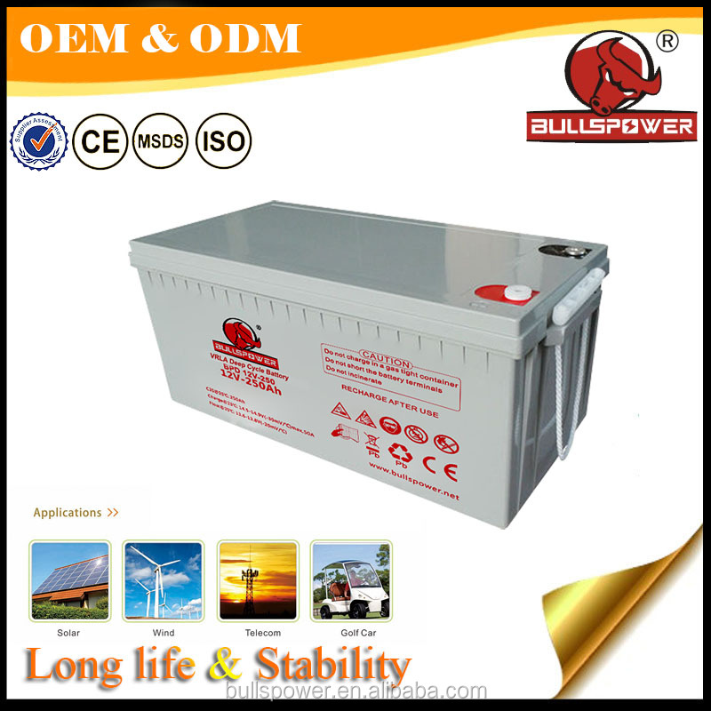 storage batteries for solar system 12V250AH