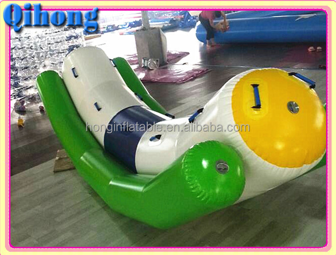 new design crazy commercial inflatable seesaw, flying banana boat for sale