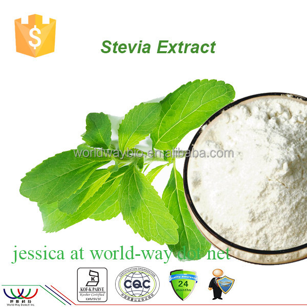 GMP factory supply 100% natural organic stevia,organic stevia food additive 98% rebaudioside A stevia powder