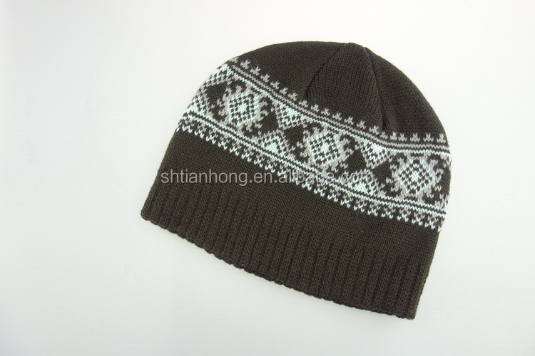 Cheap eco-friendly hot selling custom knit beanie man hats