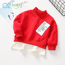 Q2-baby China Products Cheap Prices French Terry Wholesale Kids High Crewneck Sweatshirt Dress