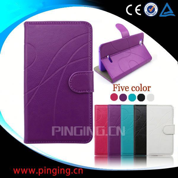factory price wallet leather flip case for samsung s5230 s5233