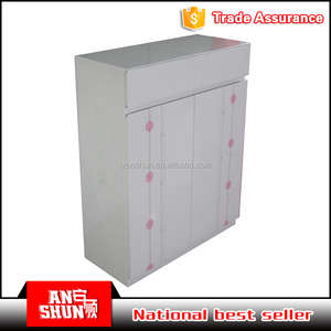 good quality welded metal stylish small shoe cabinet for sale