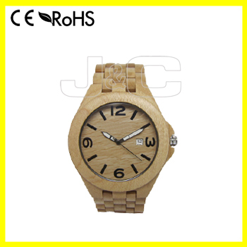 2015 100% green and nature digital bamboo and man wooden led watch