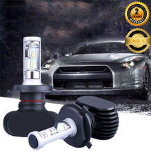 S1 series LED Headlamp bulb kits LED Headlight black color design CSP LED good quality auto lightening