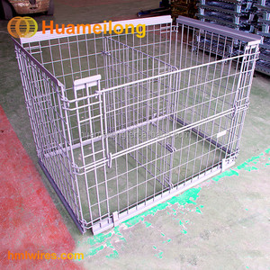 Galvanized Foldable Euro Storage Metal Store Cages Pallet
