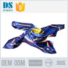 custom 100% silk scarf with flower designs