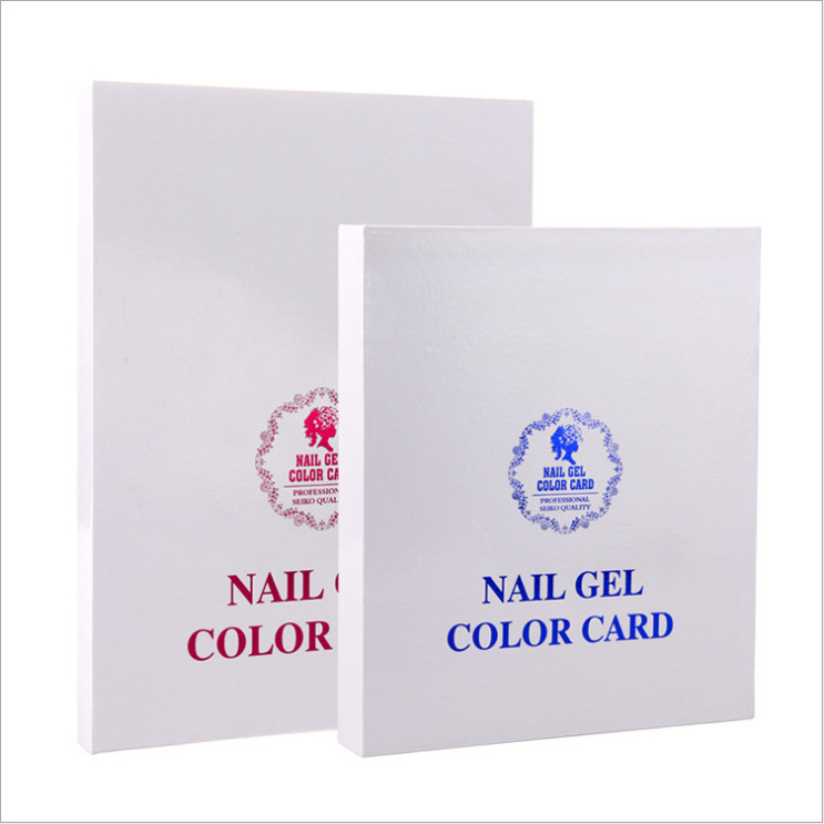 120 Blank Nail art color card book for UV gel nail polish