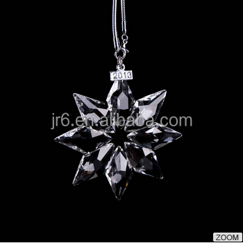 New design 2016 crystal snowflake ornament for christmas ornaments
