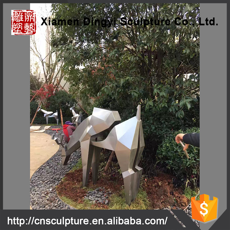 Modern Large Arts Abstract Stainless steel Animal Sculpture for Outdoor decoration
