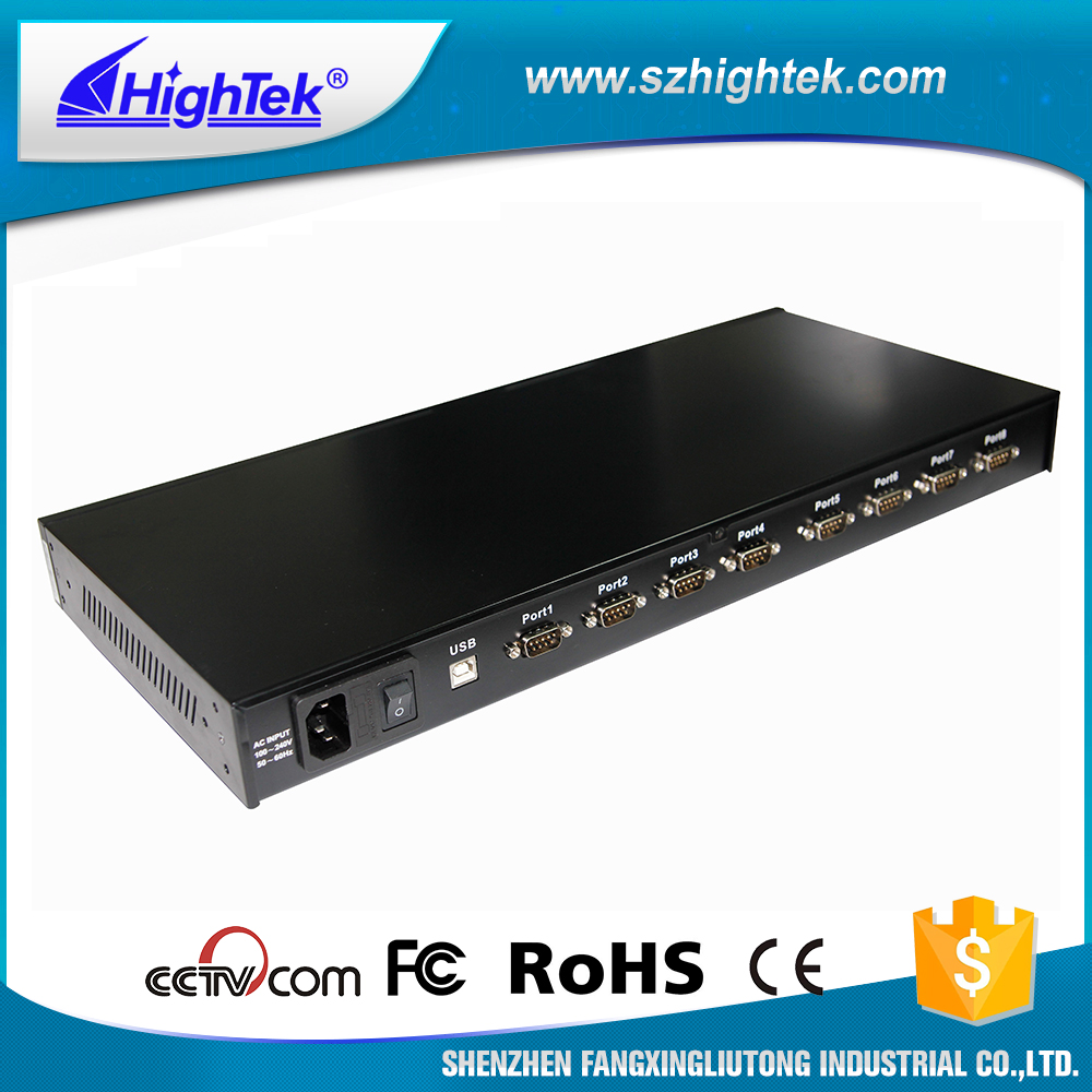 HK-5208B 8 port usb to RS485 serial fiber converter