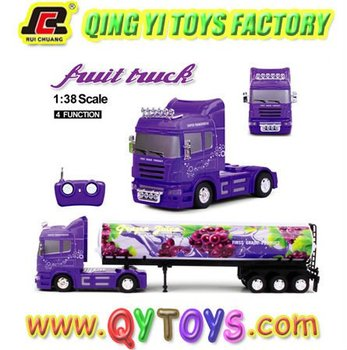 New 1:38 heavy fruit trailer truck rc