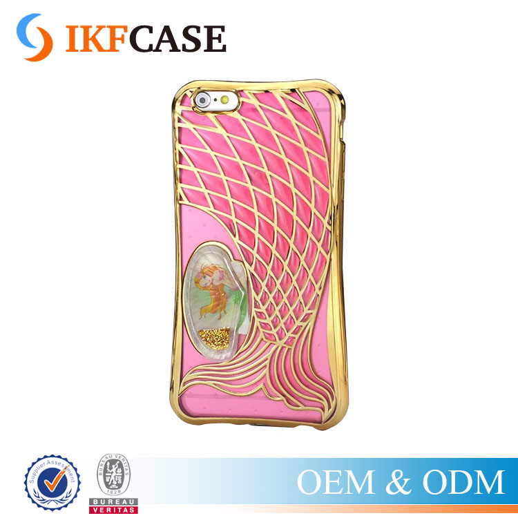 Mermaid Fishtail Quicksand Phone Case For iPhone 5 5S SE Womem Unique Scales Soft TPU Phone Back Cover