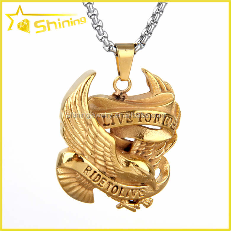 SX0042 wholesale new style motorcycle punk design men wearing gold hiphop pendant