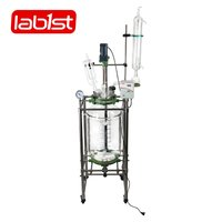 Vacuum jacketed glass distillation reactor for lab