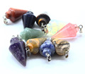 Cheap Natural Stone With Big Gemstone Crystal Pendant For Jewelry Making