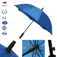 All good 27''x8k size fiber frame golf manual open blue large umbrella cheap