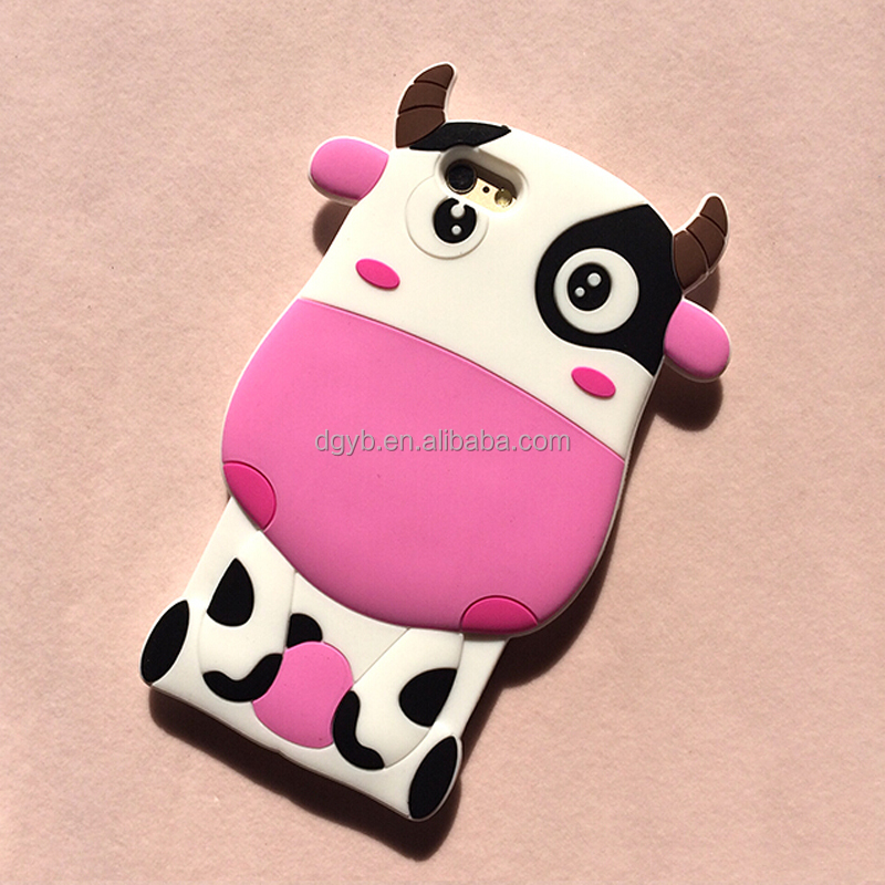 high quality mobile phone silicone 3D animal cell phone case