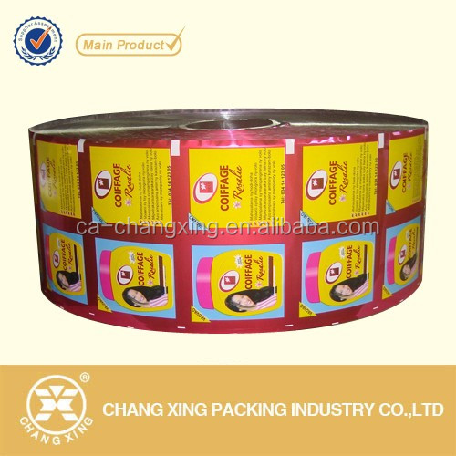 Custom printed aluminum foil laminated food packaging plastic roll film for sachet packaging