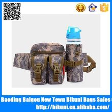 Multifunctional camouflage waist bag with water bottle holder canvas waist bag with mobile pocket