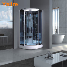 high quality double open glass shower door steam room