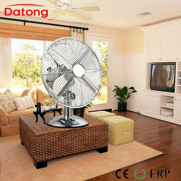 40cm Classical and elegant metal table fan /metal desk fan/Retro metal fan in chrome color