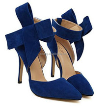 China Low Price Women Ladies Butterfly Changeable High Heels Shoes