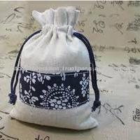drawstring jute packaging gift bag