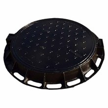 EN124 D400 round ductile iron walkway hinged pavement manhole cover and frame