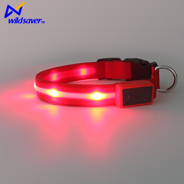 2016 new product decorative nylon waterproof led dog collar
