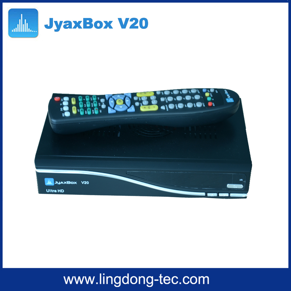 JYNX iptv box JYAXBOX Ultra HD V20 FTA Satellite TV Receiver With JB200 Wifi adapter for north america