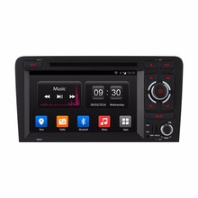"for Audi Android 4.4 8"" Quad Core Radio Car DVD Player support Bluetooth/RDS/mirror link/3G/wifi/GPS/TPMS/DVR"