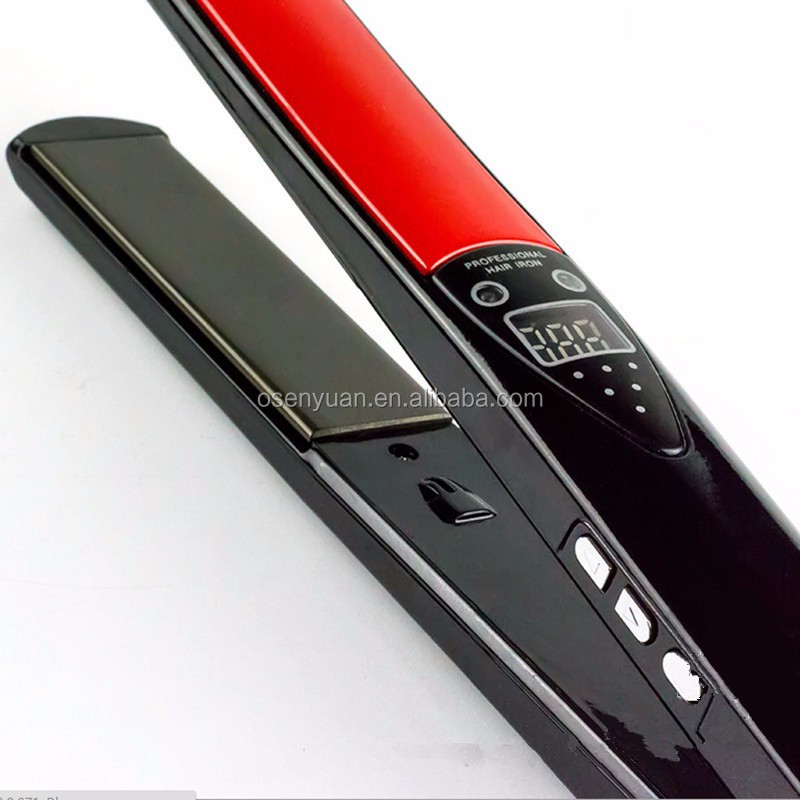 2016 Cheapest Titanium Hair Straightener Wide Plate Best Flat Iron for salon use
