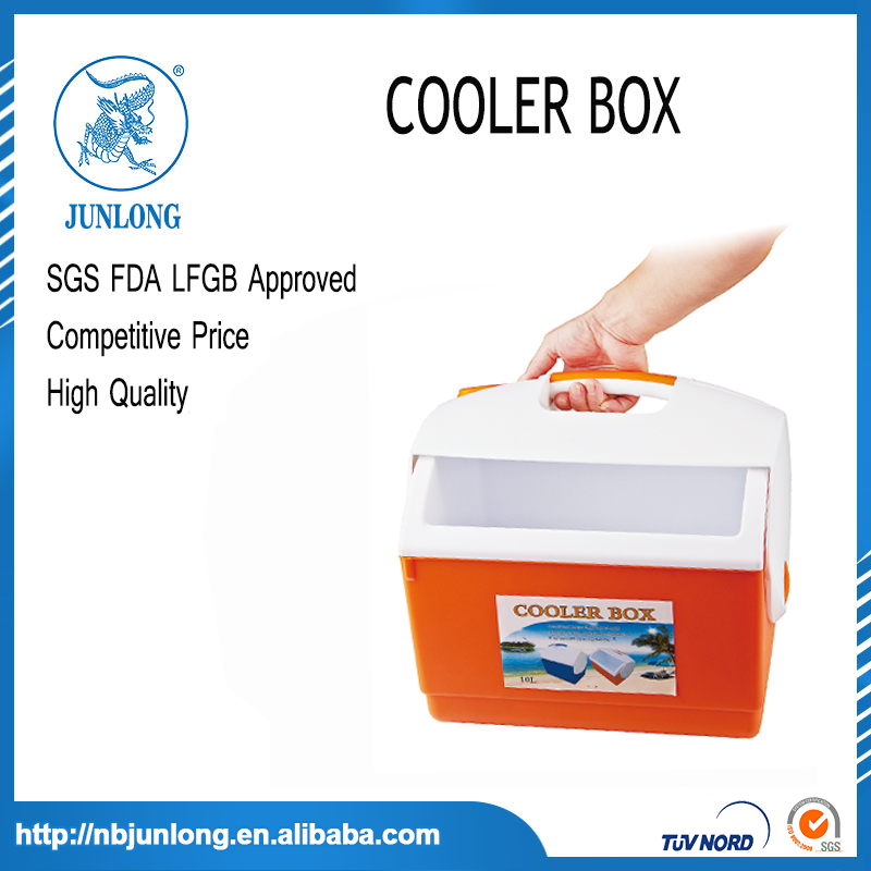 Portable Plastic Blue and White 10L Cooler Box